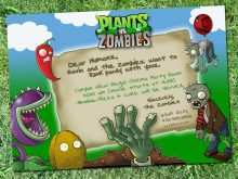 94 The Best Plants Vs Zombies Birthday Invitation Template Templates with Plants Vs Zombies Birthday Invitation Template