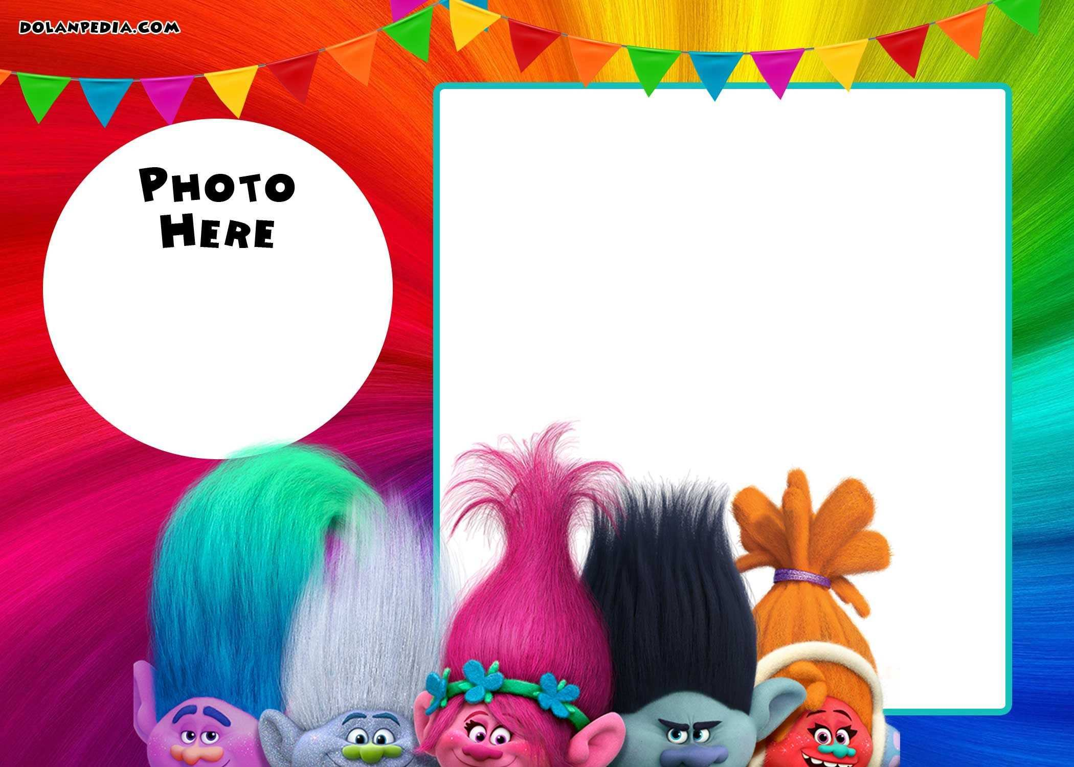 94 Visiting Trolls Party Invitation Template For Free for Trolls Party Invitation Template