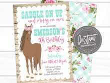 95 Best Horse Birthday Invitation Template Download with Horse Birthday Invitation Template