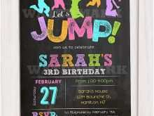 Trampoline Birthday Party Invitation Template