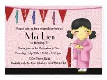 95 Customize Our Free Japanese Party Invitation Template Photo with Japanese Party Invitation Template