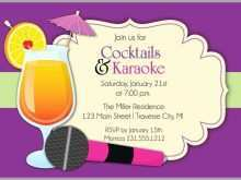 95 Customize Our Free Karaoke Party Invitation Template Templates for Karaoke Party Invitation Template