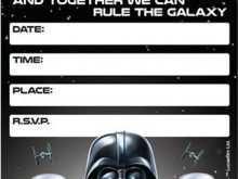 95 Customize Star Wars Birthday Invitation Template Download by Star Wars Birthday Invitation Template