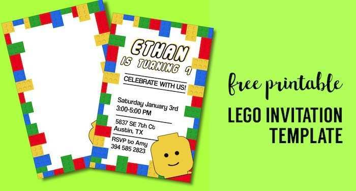 95 Format Blank Lego Invitation Template Now with Blank Lego Invitation Template