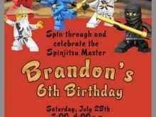 95 Format Ninjago Party Invitation Template Now by Ninjago Party Invitation Template