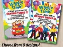 95 Free Printable Wiggles Birthday Invitation Template Layouts with Wiggles Birthday Invitation Template