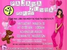Zumba Party Invitation Template