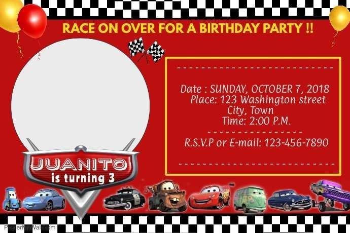 95 How To Create Cars Birthday Invitation Template in Word by Cars Birthday Invitation Template
