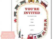 95 Online Birthday Invitation Template Train Free Templates with Birthday Invitation Template Train Free