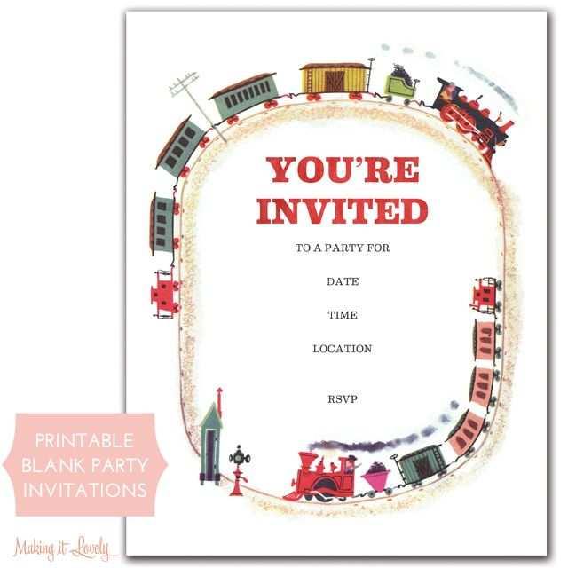95 Online Birthday Invitation Template Train Free Templates with Birthday Invitation Template Train Free