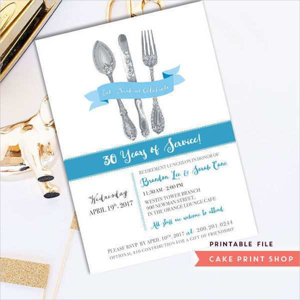 95 Standard Formal Lunch Invitation Template PSD File by Formal Lunch Invitation Template
