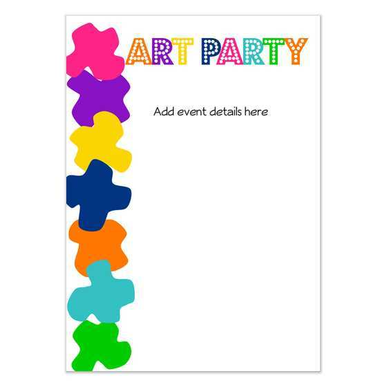 95 The Best Art Party Invitation Template Free For Free for Art Party Invitation Template Free