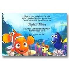 95 Visiting Nemo Birthday Invitation Template Layouts by Nemo Birthday Invitation Template