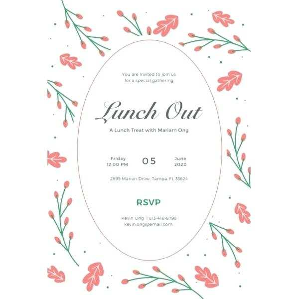 96 Adding Formal Lunch Invitation Template Photo for Formal Lunch Invitation Template