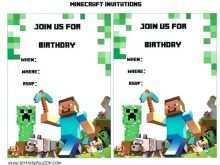 96 Best Birthday Invitation Template Minecraft Download for Birthday Invitation Template Minecraft