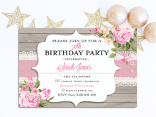 96 Creating Afternoon Tea Party Invitation Template for Ms Word for Afternoon Tea Party Invitation Template