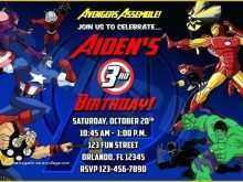 96 Customize Our Free Avengers Party Invitation Template Now by Avengers Party Invitation Template