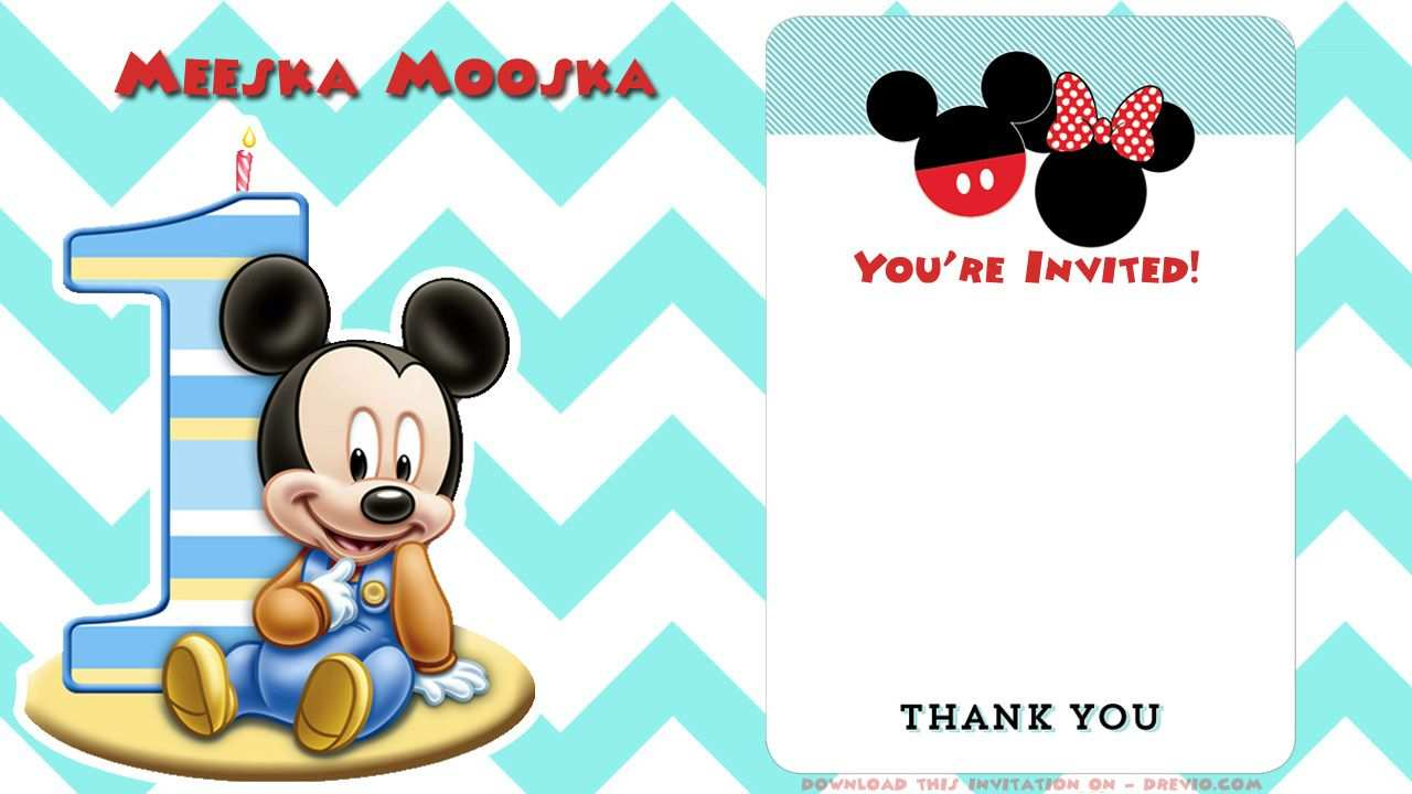 96 How To Create Mickey Mouse Blank Invitation Template Photo for Mickey Mouse Blank Invitation Template