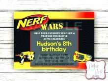 96 Online Nerf Birthday Invitation Template Free PSD File with Nerf Birthday Invitation Template Free