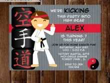 96 Report Karate Birthday Party Invitation Template Free in Word by Karate Birthday Party Invitation Template Free