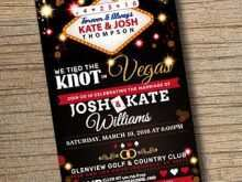 Vegas Wedding Invitation Template
