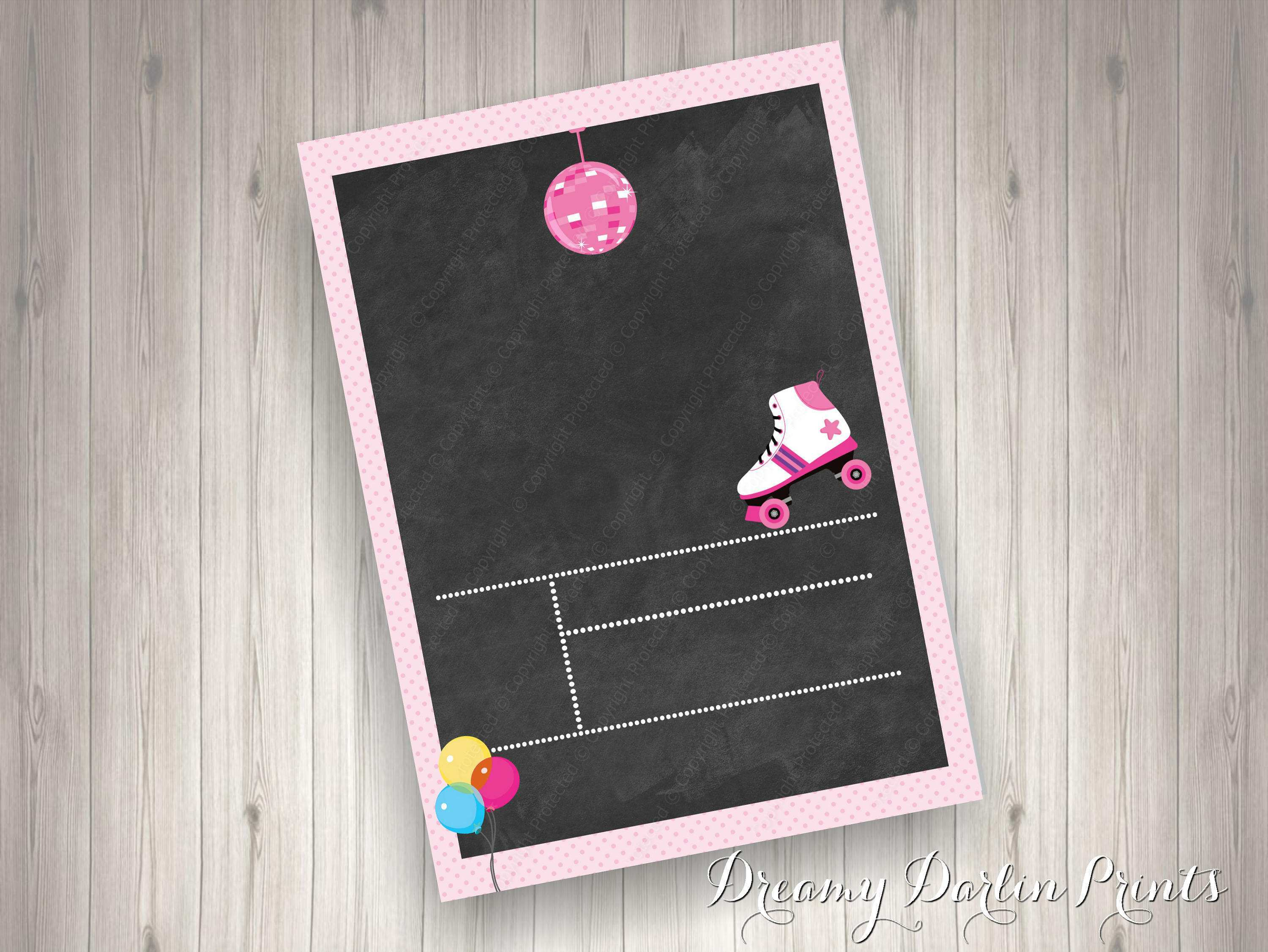 96 The Best Blank Chalkboard Invitation Template in Word for Blank Chalkboard Invitation Template