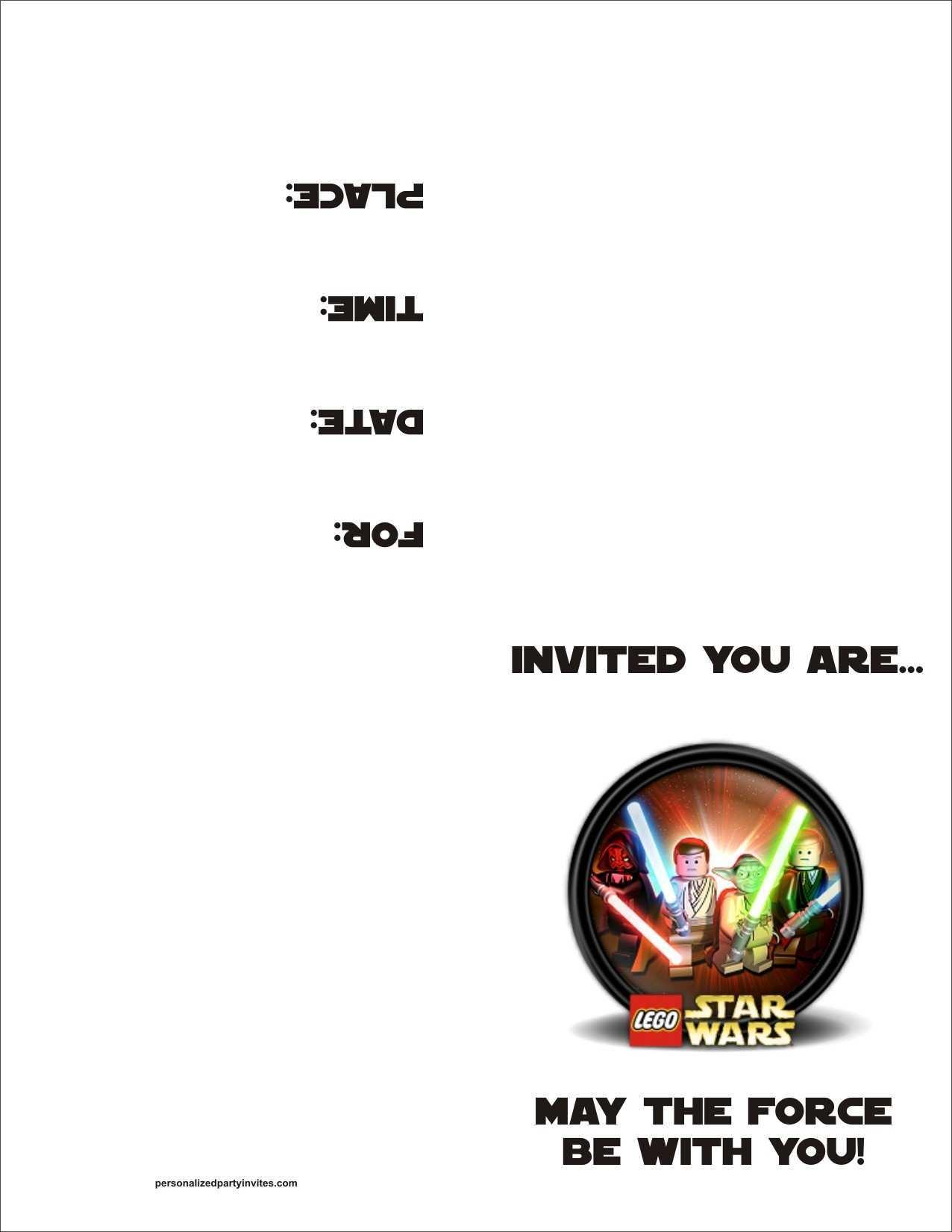 96 Visiting Star Wars Birthday Invitation Template Maker with Star Wars Birthday Invitation Template