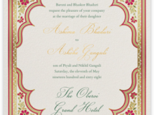 97 Adding Hindu Wedding Invitation Template Maker for Hindu Wedding Invitation Template