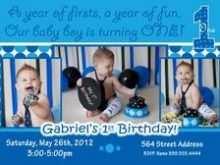 97 Blank Birthday Invitation Template For Baby Boy in Photoshop for Birthday Invitation Template For Baby Boy