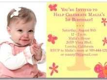 97 Create 1St Year Birthday Invitation Card Template Download for 1St Year Birthday Invitation Card Template