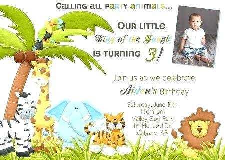 97 Creative Jungle Party Invitation Template Templates by Jungle Party Invitation Template