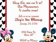 97 Creative Mickey Mouse Blank Invitation Template in Word by Mickey Mouse Blank Invitation Template