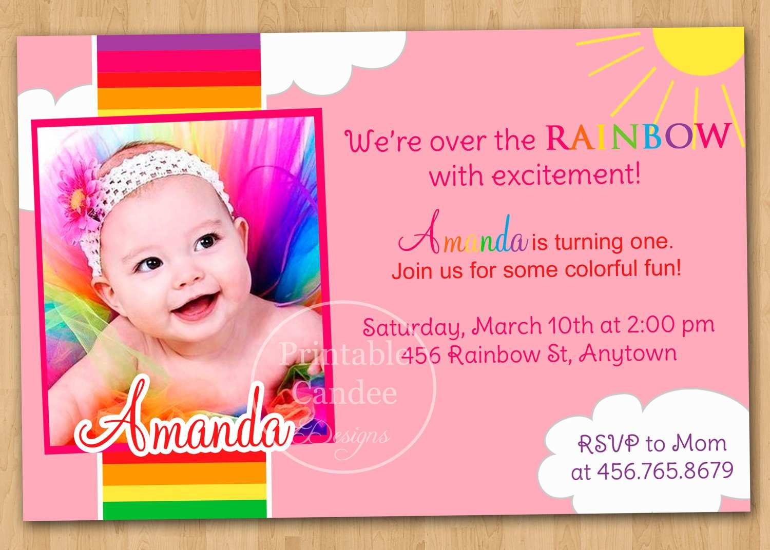 4 Customize Baby Birthday Invitation Card Template Vector Layouts