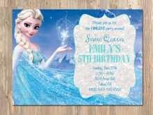97 Customize Our Free Birthday Invitation Templates Elsa PSD File with Birthday Invitation Templates Elsa