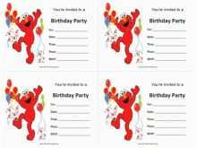 97 Customize Our Free Elmo Birthday Invitation Template for Ms Word for Elmo Birthday Invitation Template