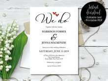 97 Customize Our Free We Do Wedding Invitation Template Download with We Do Wedding Invitation Template