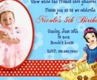 97 Format Birthday Invitation Template Snow White Layouts with Birthday Invitation Template Snow White