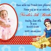 97 Format Birthday Invitation Template Snow White Layouts with Birthday Invitation Template Snow White