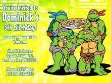 97 Free Ninja Turtle Birthday Invitation Template for Ms Word with Ninja Turtle Birthday Invitation Template