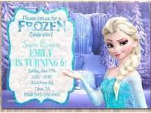 97 How To Create Elsa Party Invitation Template Formating for Elsa Party Invitation Template
