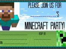 97 The Best Birthday Invitation Template Minecraft Templates by Birthday Invitation Template Minecraft