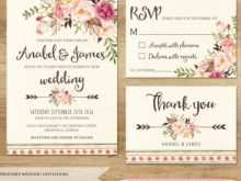 98 Adding Boho Wedding Invitation Template Download by Boho Wedding Invitation Template