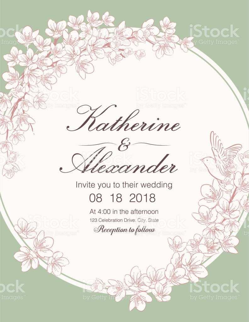 98 Adding Cherry Blossom Wedding Invitation Template for Ms Word by Cherry Blossom Wedding Invitation Template