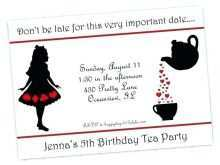 98 Best Blank Alice In Wonderland Invitation Template Maker by Blank Alice In Wonderland Invitation Template
