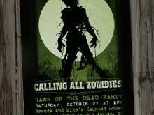 98 Best Zombie Birthday Invitation Template in Photoshop by Zombie Birthday Invitation Template