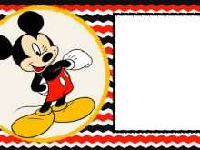 98 Blank Mickey Mouse Blank Invitation Template in Word with Mickey Mouse Blank Invitation Template