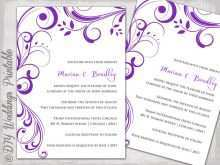 98 Creative Wedding Invitation Templates Violet With Stunning Design with Wedding Invitation Templates Violet