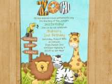 98 Creative Zoo Party Invitation Template With Stunning Design with Zoo Party Invitation Template