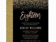 98 Free Printable Birthday Invitation Template Black And Gold Layouts for Birthday Invitation Template Black And Gold