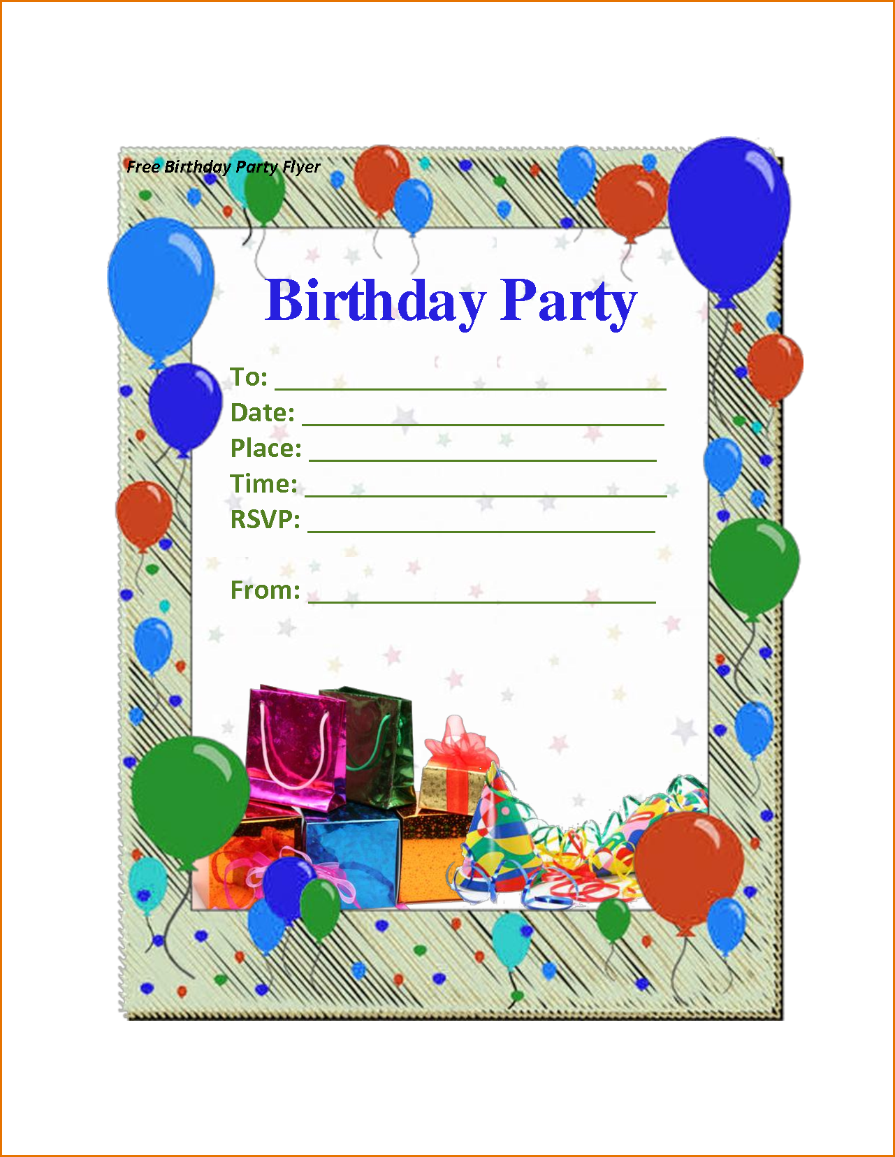98 Free Printable Birthday Party Invitation Template In Word in Word for Birthday Party Invitation Template In Word